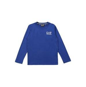 EA7 Emporio Armani Tričko  královská modrá / bílá