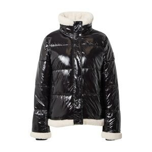 DKNY Performance Zimní bunda  černá / barva bílé vlny