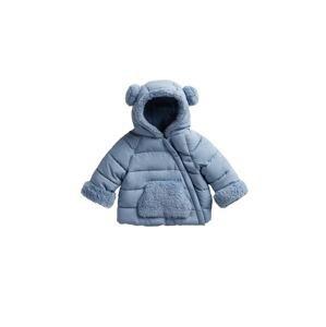 MANGO KIDS Přechodná bunda 'TEDDY'  kouřově modrá