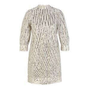 Vero Moda Petite Koktejlové šaty 'CRYSTAL'  béžová / stříbrná