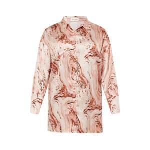 Public Desire Curve Košilové šaty  hnědá / cappuccino