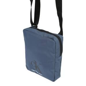 Calvin Klein Jeans Taška přes rameno  modrá / bílá / šedá