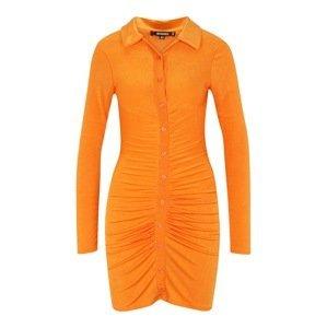 Missguided Tall Košilové šaty  oranžová