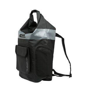 QUIKSILVER Sportovní taška  černá / šedá