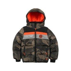 Cars Jeans Přechodná bunda 'BAGGART'  khaki / černá / svítivě oranžová / kouřově šedá / tmavě zelená