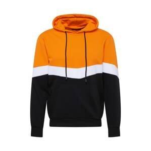 Trendyol Mikina  oranžová / černá / bílá