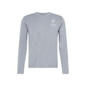 ASICS Funkční tričko 'FUJI'  šedá / bílá