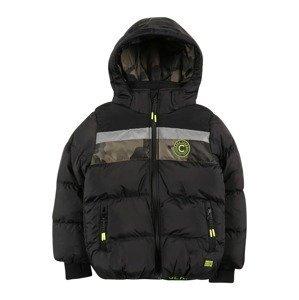 Cars Jeans Přechodná bunda 'BAGGART'  černá / khaki / svítivě oranžová / tmavě zelená