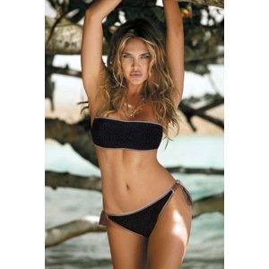 Etna Dámské dvoudílné plavky Mia Black černohnědá 36