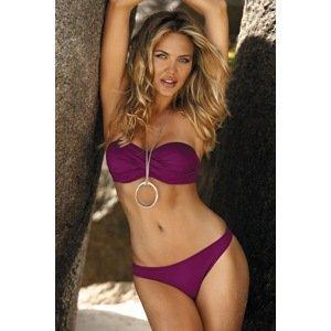 Etna Dámské dvoudílné plavky Scarlet fialová 44