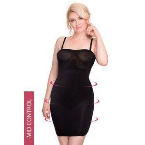 Hanna Style Stahovací šaty Hanna 6722-MicroClima černá XL