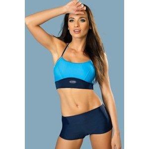 gWINNER Dámské plavky Rosa dvoudílné - horní díl + kalhotky modrá 36