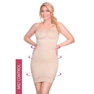 Hanna Style Stahovací šaty Hanna 6722-MicroClima béžová XL