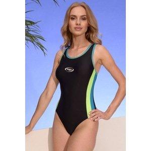 Volin Dámské sportovní jednodílné plavky Alex 05 černomodrá S