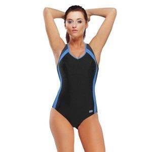 gWINNER Dámské jednodílné plavky Dora modročerná 42