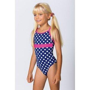 LORIN Dívčí jednodílné plavky Dots barevná 140