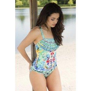 Lentiggini a Mila Swimwear Dámské jednodílné plavky Kelli tyrkysová 44