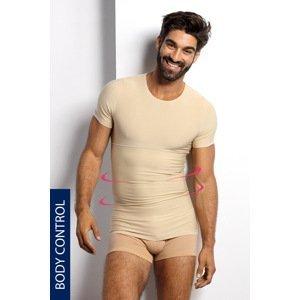 BLACKSPADE Stahovací tričko s kulatým výstřihem PLUS SIZE béžová 5XL