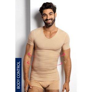 BLACKSPADE Stahovací tričko s véčkovým výstřihem béžová L