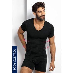 BLACKSPADE Stahovací tričko s véčkovým výstřihem černá XXL