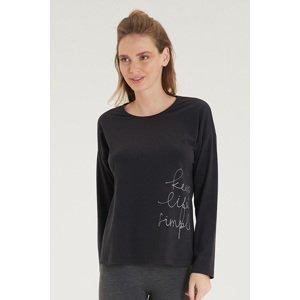 BLACKSPADE Dámské černé tričko s dlouhým rukávem černá S