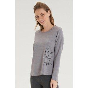 BLACKSPADE Dámské šedé tričko s dlouhým rukávem šedá XL