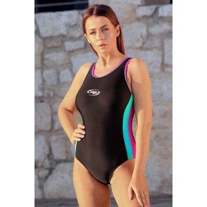 Volin Dámské sportovní jednodílné plavky Alex Martinica New černorůžová M
