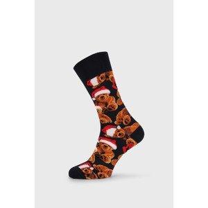 John Frank Vánoční ponožky Teddy barevná 40-45
