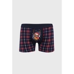 Cornette Modré vánoční boxerky Reindeer navy M
