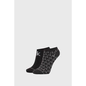 Calvin Klein 2 PACK dámských černých ponožek Calvin Klein Callie černá uni