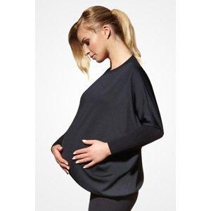 Basbleu Těhotenské triko Emi černá XXL