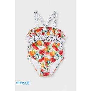 Mayoral Moda Infantil, S:A.U. Dívčí jednodílné plavky Mayoral Melone barevná 7