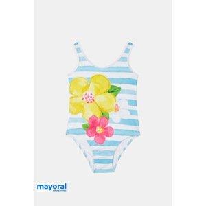 Mayoral Moda Infantil, S:A.U. Dívčí jednodílné plavky Mayoral modrobílé modrobílá 5