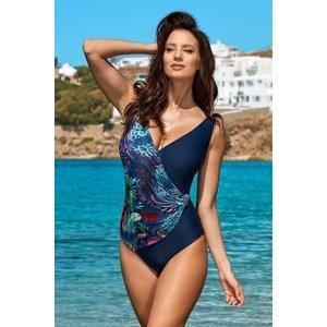 Madora Dámské jednodílné plavky Jessica blue barevná 38