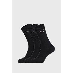 PUMA 3 PACK černých ponožek Puma Sport černá 35-38