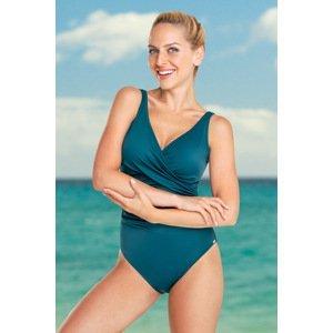 Rosme Dámské jednodílné plavky Diana Green zelená 48-A
