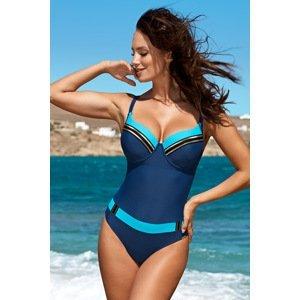 Madora Dámské jednodílné plavky Brigitte 01 modrá 85/F