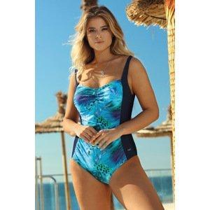 NATURANA Dámské jednodílné plavky Julianna modrá 48-C