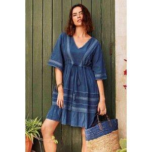 David Beachwear Plážové šaty Madagascar modrá S