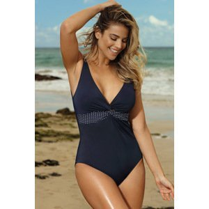 LAUMA lingerie Dámské jednodílné plavky Blue Reef tmavěmodrá 95/B