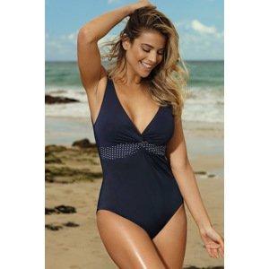LAUMA lingerie Dámské jednodílné plavky Blue Reef tmavěmodrá 95/F