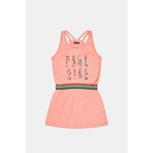 DJ Dutchjeans Dívčí šaty Neon růžová 128