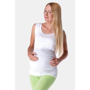 Anda Těhotenské a kojicí tílko Adele bílá XL