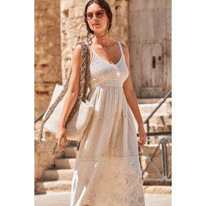David Beachwear Plážové šaty Vulcano bílá S