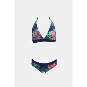 Lentiggini a Mila Swimwear Dívčí dvoudílné plavky Tropico barevná 128