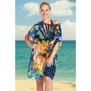 Lentiggini a Mila Swimwear Dámské plážové šaty Jungle Flower barevná M