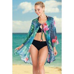 Lentiggini a Mila Swimwear Dámské plážové šaty Tropical Flower barevná XL