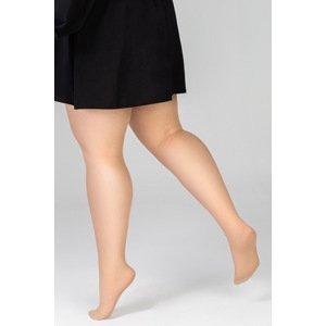 MONA QUEEN Punčochové kalhoty Plus Size Victoria 30 DEN desert rose 8