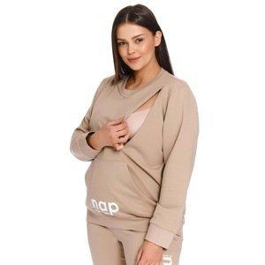 Doctor Nap Těhotenská a kojicí mikina Nap béžová XL