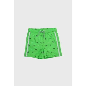 Lentiggini a Mila Swimwear Chlapecké plavkové šortky Želvy zelená 116